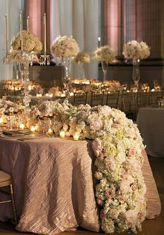 Stunning Head Table with Floral Garland