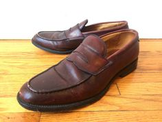 Mens 10 Vintage Oxblood Penny Loafers Allen by flickaochpojke #menswear #mensfashion  #vintagestyle