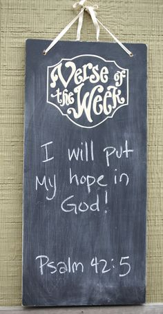 Ahhhh, brilliant!!! I should start putting my verse of the week on my monogrammed chalkboard!