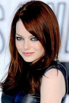 Emma Stone and i have similar complexions , soooo im thinking going red.....hmm