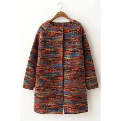 Yoins Multi-colored Woolen Coat ($56) ❤ liked on Polyvore featuring outerwear, coats, coats & jackets, jackets, yoins, black, multi colored coat, faux coat, woolen coat and faux wool coat