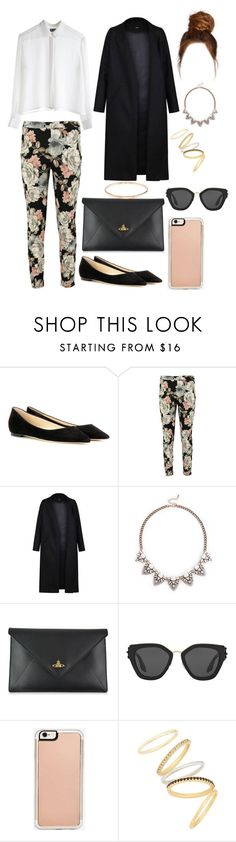 """""""Untitled #4800"""" by pauladtello ❤ liked on Polyvore featuring Jimmy Choo, MTWTFSS Weekday, Boohoo, Non, Sole Society, Vivienne Westwood, Prada, Zero Gravity and Madewell"""