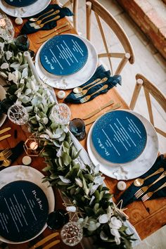 A stars and moon inspired shoot, romantic and elegant, yet relaxed. Glass place names, navy blue and gold accents, geometric details. Concept by The Elysian Styling Company Photography by Christina Adelina Tjhia Starry Night Wedding, Moon Wedding, Celestial Wedding, Wedding Menu, Wedding Table, Wedding Day, Wedding Foods, Starry Nights, Wedding Catering