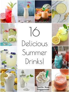 I love cold, frosty beverages any day of the year, but they're especially awesome on a sweltering summer day! These 16 delicious summer drink recipes sound great!