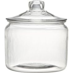 Crate & Barrel Heritage Hill 96 oz. Glass Jar with Lid ($12) ❤ liked on Polyvore featuring home, kitchen & dining, food storage containers, fillers, kitchen, jars, glass, beverage storage containers, glass food storage containers and glass jars