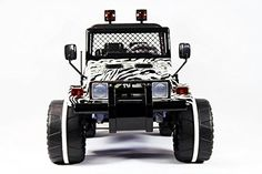 Luxorious Zebra Battery Operated Ride on Jeep Raptor Style with Remote Control