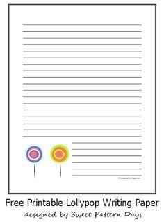 Cute Lollypop Writing Paper Design