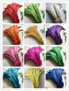 10//50//100//500pcs Black Rooster Tail Feathers 10-18 Inches//25-45cm Wholesale
