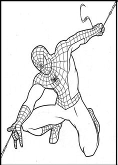 Spiderman Printable coloring picture for kids