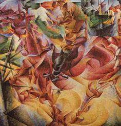 U. Boccioni: Elastizität 1911
