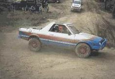 Subaru Brat, with big ol tires!