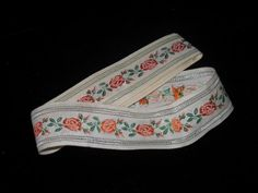 Your place to buy and sell all things handmade Band, Ribbon, Orange, Floral, Dress, Etsy, Vintage, Tape, Sash