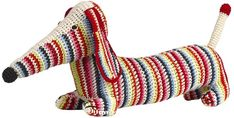Hand-Crocheted Organic Cotton Dachshund