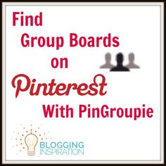 Find Pinterest group boards with PinGroupie