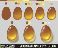 Shading a Gem Step by Step Chart by *ConceptCookie on deviantART www.SeedingAbundance.com http://www.marjanb.myShaklee.com