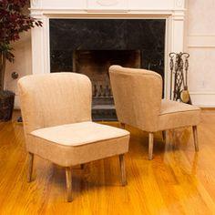 Douglas Desert Tan Fabric Accent Chairs (Set of 2)