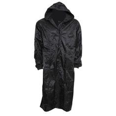 XL, Navy New Mens Long Waterproof Hooded Lightweight Rain Coat Outdoor Jacket Raincoat UK