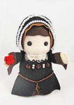 Anne Boleyn Felt Doll
