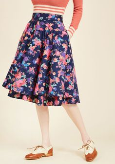 Essence of Elan Midi Skirt, #ModCloth size: XL