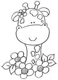.giraffee in flowers