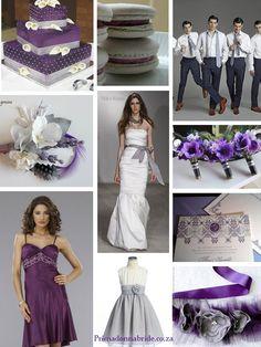 Trendy Wedding Party Purple And Gray Color Palettes Ideas Grey Purple Wedding, Gray Wedding Colors, Purple Wedding Bouquets, Purple Grey, Wedding Color Schemes, Wedding Dresses, Gray Color, Wedding Flowers, Wedding Lavender