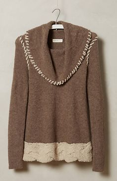 Pretty Whipstitched Boucle Sweater #anthrofave http://rstyle.me/n/sucvnbh9c7