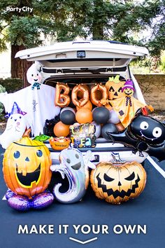 Halloween Car Decorations, Halloween Treats For Kids, Halloween Party Games, Halloween Birthday, Halloween House, Holidays Halloween, Halloween Themes, Halloween Crafts, Happy Halloween