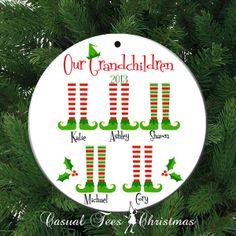 Personalized Christmas Ornament - Our Grandchildren Grandparent Gift