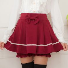 Cute lolita bow culottes shorts skirts