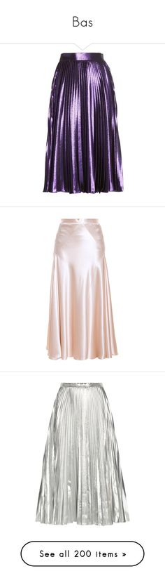 """Bas"" by floriane97 ❤ liked on Polyvore featuring skirts, bottoms, faldas, gucci, purple ruffle skirt, flouncy skirt, sparkle skirts, stripe skirts, metallic skirt and panel skirt"