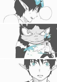 Okumura Rin and Kuro Rin Okumura, Rin And Shiemi, Kuro Ao No Exorcist, Blue Exorcist Anime, Fullmetal Alchemist, Manga Art, Manga Anime, Ichigo E Rukia, Anime Rules