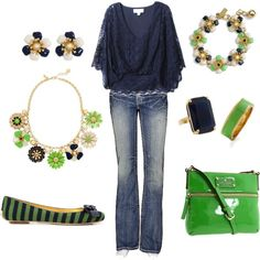 Navy and Green