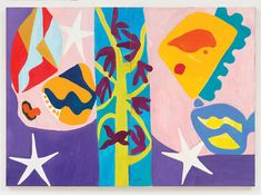 The Dew Larks Sing (Dyptich) 2014 Oil on Canvas by Gillian Ayres