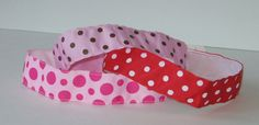 No Slip Headband, Polka Dots, Velvet Headband, Yoga Headband, Wide Headband, Pink, Red, Party Favor, Fashion, Hair, Workout, Jogger, Runner