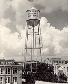 The original campus water tower. Welcome to Aggieland!