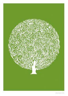 Green Tree Print - Different Sizes