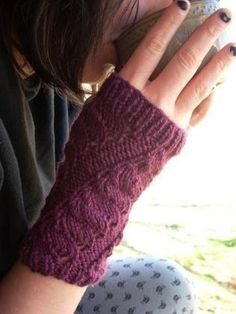 Cute #knit armwarmers are great stashbusters!