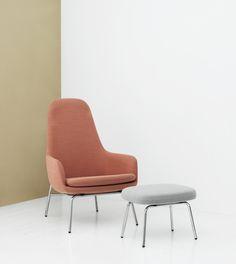 Era Lounge Chair and Foot stool from Normann Copenhagen