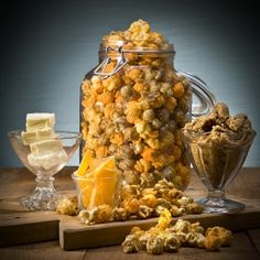 Pittsburgh popcorn company's cheddar caramel mix. I swear this stuff is the most amazing snack food on the planet.