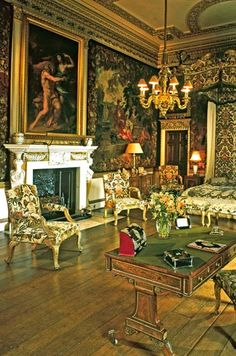 The Green State Bedroom, Holkham Hall, Wells-next-the-Sea, Norfolk