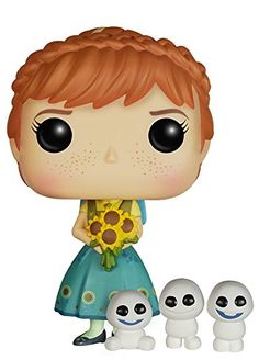 POP Disney: Frozen Fever - Anna from Funko! Figure stands 3 3/4 Inch and comes in a window display box. Check out the other POP figures from Funko! Collect them all....