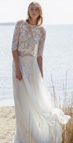 robe de mariée haut dentelle