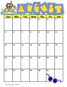 Calendar for school year 2012-2013 FREE