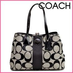 Coach 13533 black kisslock purse New unused- please review all three post of pictures and feel free to ask any questions you may have thank you have a blessed day  Coach Bags