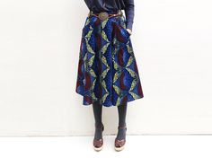 Add a touch of cool with and African print skirt!