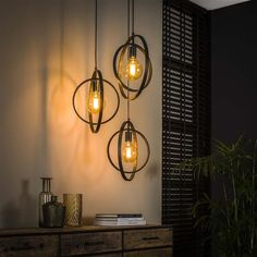 This industrial ceiling light has three light sources, is made of metal and is finished with a charcoal touch. The light sources distributes the light in a beautiful way through the room, creating a great ambiance. Industrial Ceiling Lights, Wall Lights, Light, Interior, Lighting, Lights, Candle Sconces, Affordable Design, Ceiling Lights