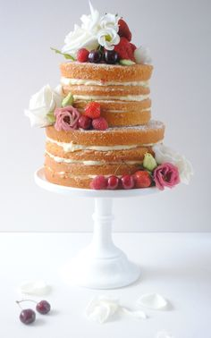 Naked Layer Cake Tutorial available on Talacooking.com. The perfect celebration cake and so simple to make
