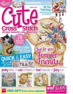 Cute Cross Stitch Spring 2013 Patterns pinned