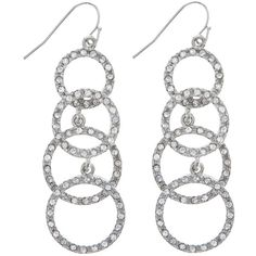 Orion Earrings ($12) ❤ liked on Polyvore featuring jewelry, earrings, accessories, brincos, acessorios, women, earring jewelry, sparkle jewelry and sparkly earrings