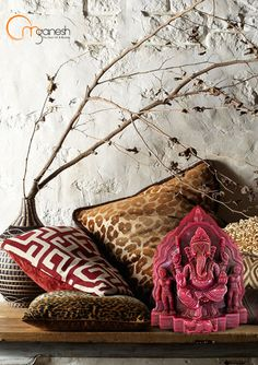 Artistically crafted areas in your homes will be the ideal set up for a Ruby Ganesha . #Artistic #Crafted #Areas #Home #Ideal #Setup #Ganesha  #Auspicious #Beautiful #Gifting #Craft